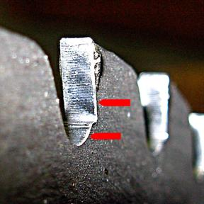 Saw blade analysis two causes of failure