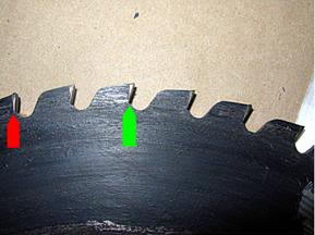 Saw blade tip loss alloy bulge
