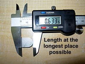 stump grinder teeth measuring