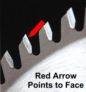 Sawblade face grinding