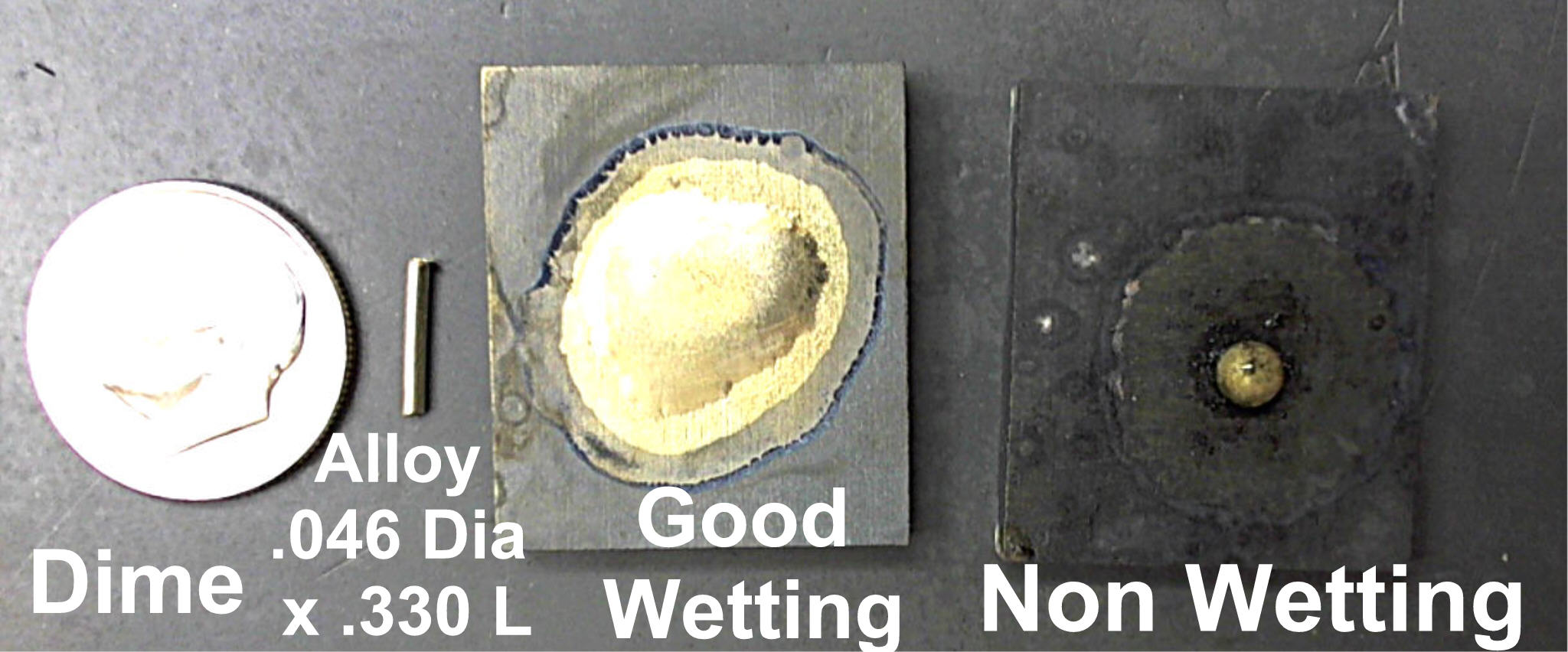 How to silver braze wetting test