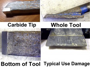 Tile removal tool with carbide tip