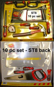 Kids' Tool Kits - The ST8, 10 pc kit from Lowes is pretty good
