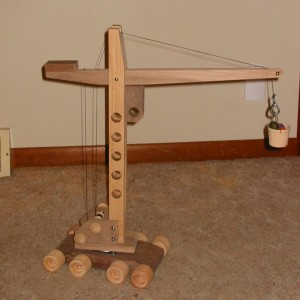 crane woodworking project