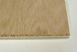 tearout on veneered wood