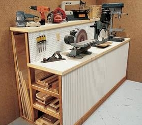 storage work bench