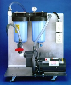 filter unit with pump